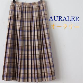 コモリ(COMOLI)のAURALEE SUPER LIGHT WOOL CHECK SKIRT(ロングスカート)