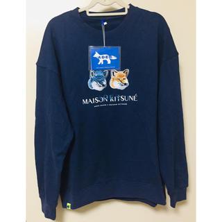 MAISON KITSUNE' - 日本未販売 maison kitsune トレーナー カラー ブルー