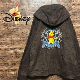 Disney - 希少 ディズニー Disney プーさん 刺繍 ふわふわフリース パーカー古着