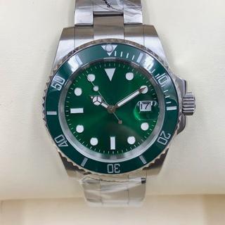 日本製ムーブメント・メンズ自動巻き腕時計サブマリーナー グリーン(腕時計(アナログ))