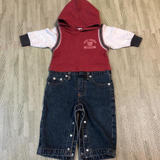 ベビー服 カバーオール 長袖 80(カバーオール)