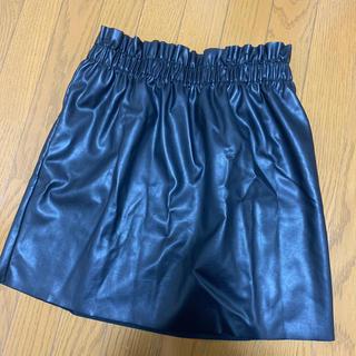 H&M - h&m レザースカート サイズ40 ブラック XL