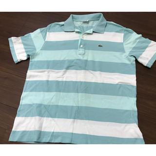ラコステ(LACOSTE)の即完売品 ラコステ グリーン ボーダー ポロシャツ 半袖(ポロシャツ)