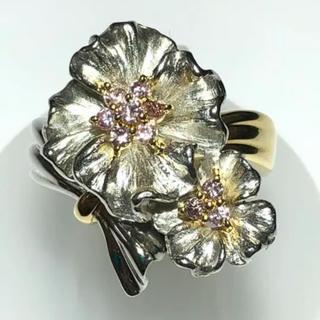k18yg pt900 豪華絢爛 ピンクダイヤモンド リング 指輪(リング(指輪))