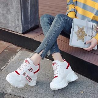 新作  ファッション   厚底系  靴 スニーカー    赤  (スニーカー)