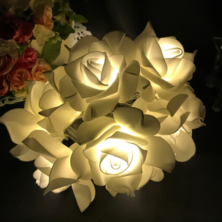バラ 薔薇 ローズ ガーランド LED イルミネーション ライト フラワーライト(その他)