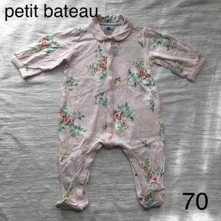 PETIT BATEAU - 【送料込み】petit bateau プチバトー ロンパース カバーオール 70