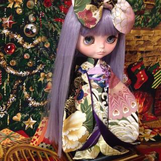 人絹 裏地と下着物に使用 姫着物 ネオブライス リカちゃんサイズ 着物(その他)