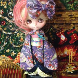 裏地に本格着物用生地使用 姫着物 ネオブライス リカちゃんサイズ 着物(その他)