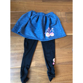 アンパンマン - アンパンマンデニム風スカートと黒レギンスセット 95