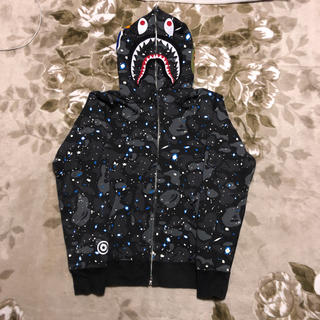 A BATHING APE - APE BAPE space camo 迷彩 シャーク パーカー shark m