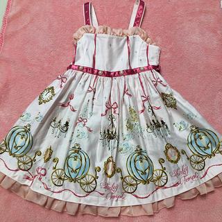 Shirley Temple - シャーリーテンプル110cm シンデレラptジャンパースカート 美品 ピンク