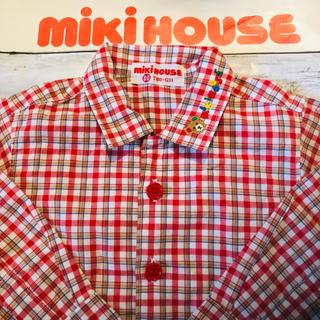 ミキハウス(mikihouse)のミキハウス ブラウス チェック 長袖 mikihouse  MIKIHOUSE(シャツ/カットソー)