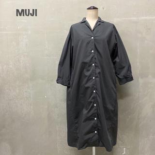 MUJI (無印良品) - 【MUJI】シャツワンピース 無印良品