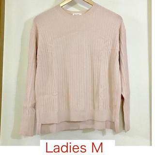 プラステ(PLST)の【PLST/プラステ】ピンクの長袖リブニットM(ニット/セーター)