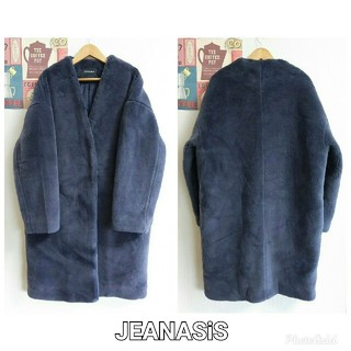 JEANASIS - 新品JEANASiS ジーナシス 秋冬シンプル大人カジュアル厚手ノーカラーコート