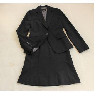 Le souk - S865★ルスーク スカートスーツ38黒ビジネス出張リクルート面接