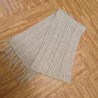 MUJI (無印良品) - 無印良品 アルパカ ウール マフラー ベージュ ケーブル編み