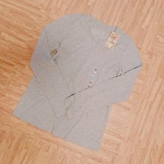 MUJI (無印良品) - 無印良品 新品 未使用 タグ Vネック 長袖 Tシャツ