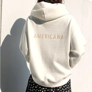 AMERICANA - aquagirl アクアガール Americana バックロゴ裏毛パーカー