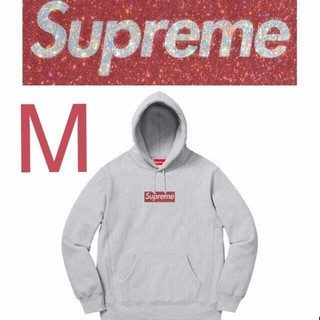 Supreme - supreme Swarovski Box Logo Hooded