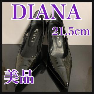 ダイアナ(DIANA)のDIANA ダイアナ パンプス ブラック エナメル 21.5cm(ハイヒール/パンプス)