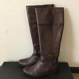 コールハーン(Cole Haan)のコールハーンこげ茶 ロングブーツ 5サイズ(ブーツ)
