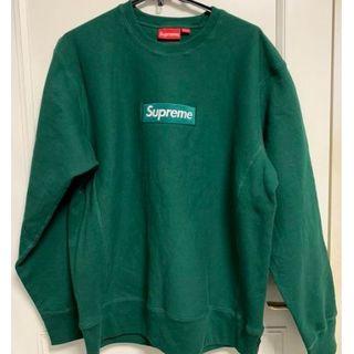 Supreme - Supreme Box Logo Crew neck /Green