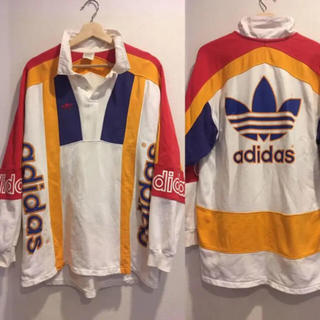 adidas - 90sビンテージadidas originals ラガーシャツ アディダス