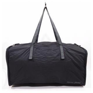 ミュウミュウ(miumiu)の美品■MIU MIU 折り畳み式バッグ ボストンバッグ エコバッグ 正規品(ボストンバッグ)