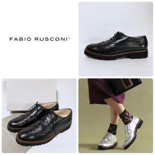 FABIO RUSCONI - ■定3.6万 ファビオルスコーニ レースアップシューズ 40 25 ローファー
