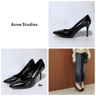 ACNE - ■定6.9万 ACNE STUDIOS アクネ パンプス 38 24.5 黒