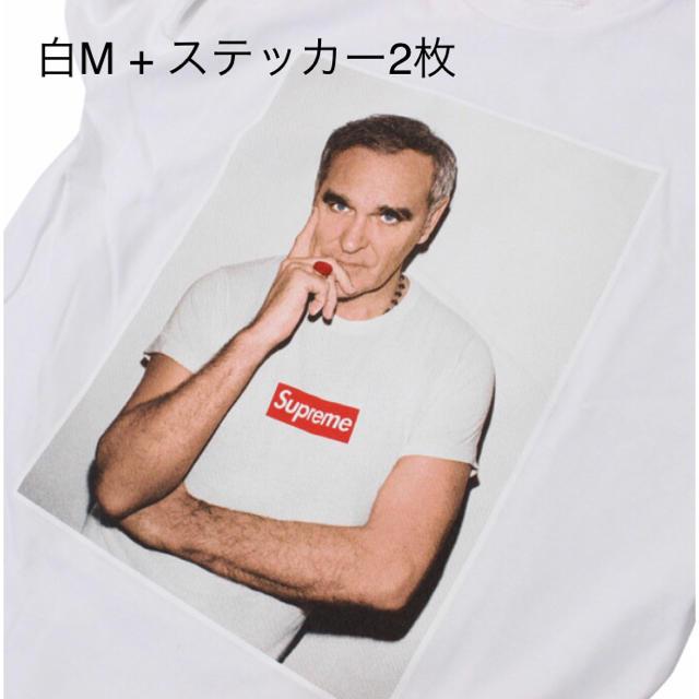 Supreme(シュプリーム)の【白M】Supreme モリッシー フォトtee / phototee メンズのトップス(Tシャツ/カットソー(半袖/袖なし))の商品写真