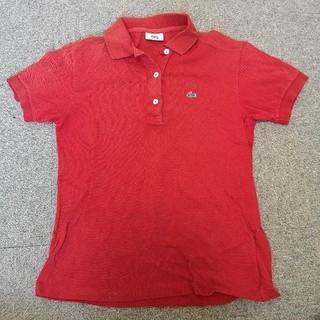 ラコステ(LACOSTE)のLACOSTE  40 半袖  ポロシャツ  赤(ポロシャツ)