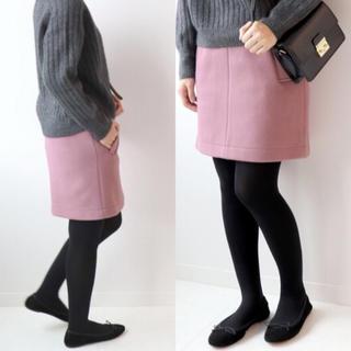 IENA SLOBE - メルトン台形スカート ピンク