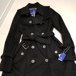 バーバリーブルーレーベル(BURBERRY BLUE LABEL)のバーバリーブルーレーベル 羊毛・カシミア製 ロングコート 新品未使用 40(ロングコート)