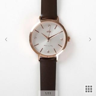 エテ(ete)のete 時計 ダイヤモンドレザーベルト(腕時計)