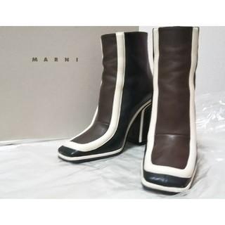Marni - MARNI マルニ ショートブーツ 35(22.5cm) 定価14万 美品