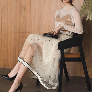 snidel - チュールスカート ふんわり 看護系ファッション