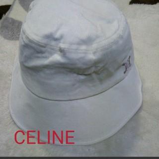 セリーヌ(celine)の【お値下】セリーヌCELINE  コーデュロイ帽子ハット 48cmオンワード樫山(帽子)