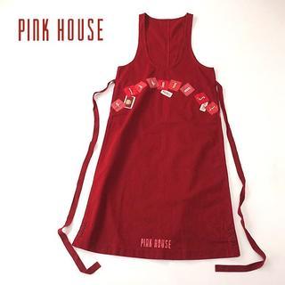 ピンクハウス(PINK HOUSE)のPINK HOUSE ピンクハウス マキシ丈ジャンパースカート/エプロン(ひざ丈ワンピース)