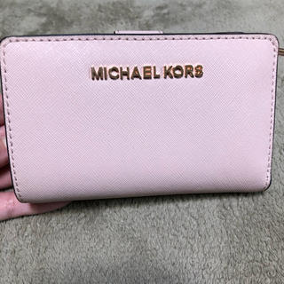 Michael Kors - ♡MICHAEL KORS ピンク 二つ折り財布♡