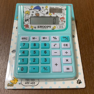 SNOOPY - スヌーピー ソーラー 電卓 チラシ