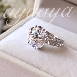 最高級人工ダイヤモンド SONAダイヤモンド 大粒5.0ctオーバルカット (リング(指輪))