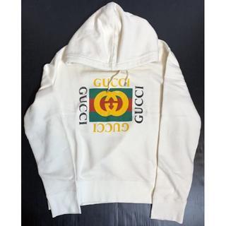 Gucci - グッチ★ヴィンテージ加工 オールドロゴ パーカー★M