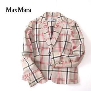 マックスマーラ(Max Mara)のMaxMara マックスマーラ マルチチェック◎2Bテーラードジャケット(テーラードジャケット)