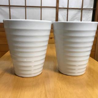 Ann様 用大型陶器鉢白 8号 2個セット ⑥(プランター)