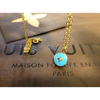 LOUIS VUITTON - 美品 正規品 ルイヴィトン チャーム トップ ネックレス ゴールド×水色
