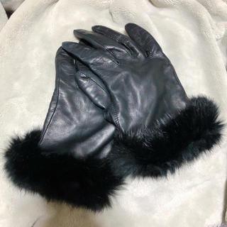 クロエ(Chloe)のChloe 革手袋 黒 レディース用(手袋)