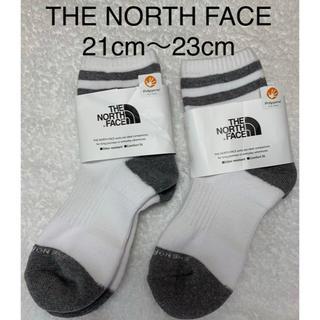 ザノースフェイス(THE NORTH FACE)の新品  THE NORTH FACE トラバース ライン ソックス 2足セット(靴下/タイツ)